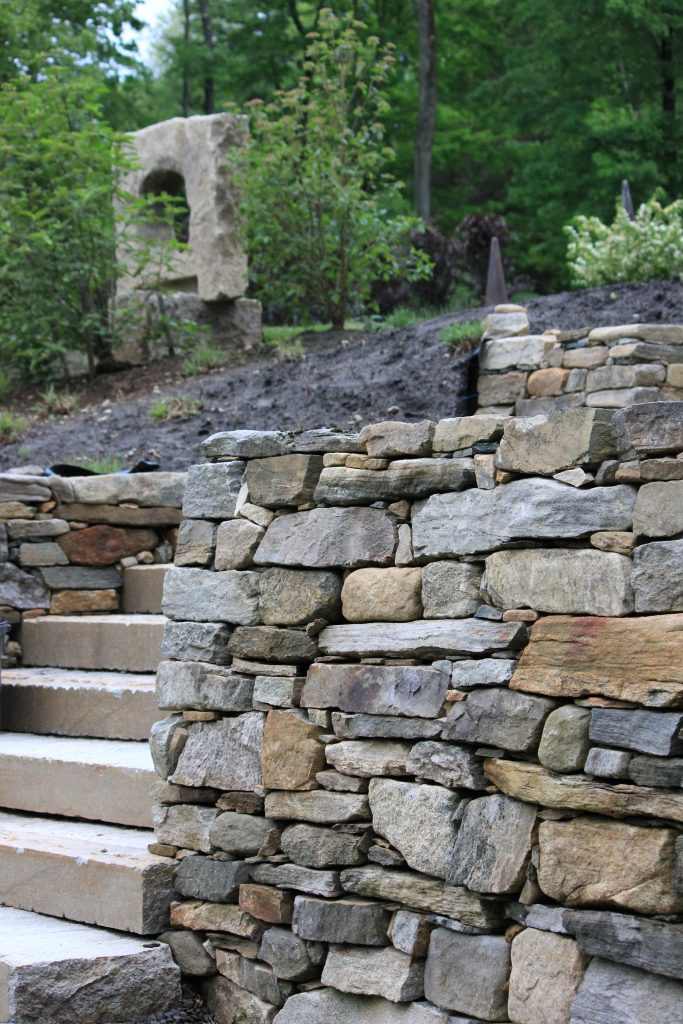 fieldstone wall in New Milford