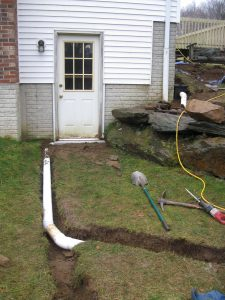 trench drain and drainage pipe